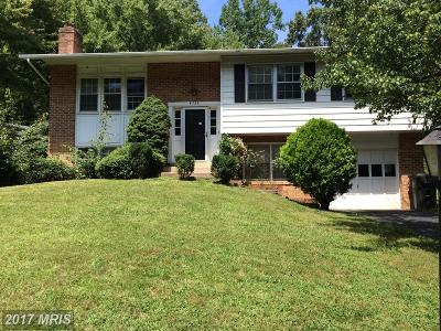 Fairfax Single Family Home For Sale: 4735 Carterwood Drive