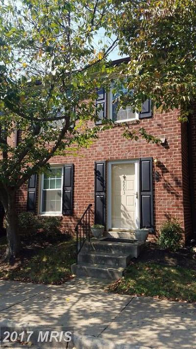Fairfax Townhouse For Sale: 6003 Independence Way