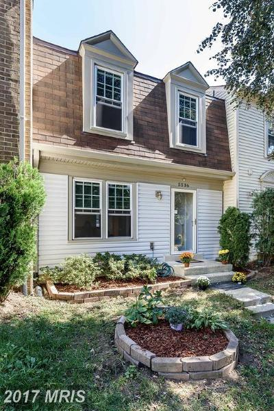 Fairfax Townhouse For Sale: 5536 Talon Court