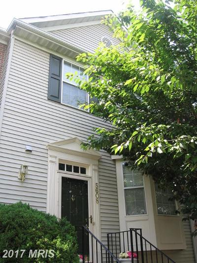 Centreville Townhouse For Sale: 5608 Oakham Place