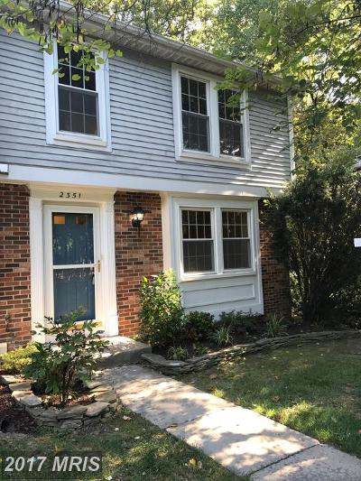 Reston Townhouse For Sale: 2351 Middle Creek Lane