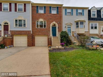 Centreville Townhouse For Sale: 14546 Eddy Court