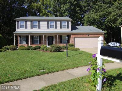 Burke Single Family Home For Sale: 6612 Saddlehorn Court