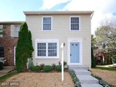 Fairfax Townhouse For Sale: 6362 Generals Court