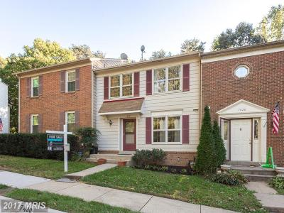 Fairfax Townhouse For Sale: 7430 Spring Tree Drive
