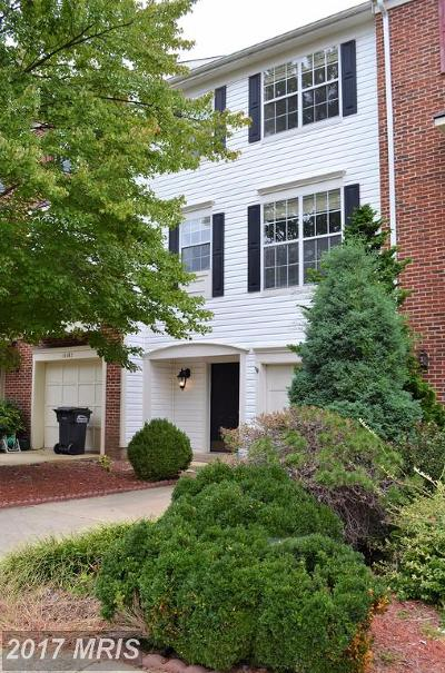 Centreville Townhouse For Sale: 14460 Cider House Lane