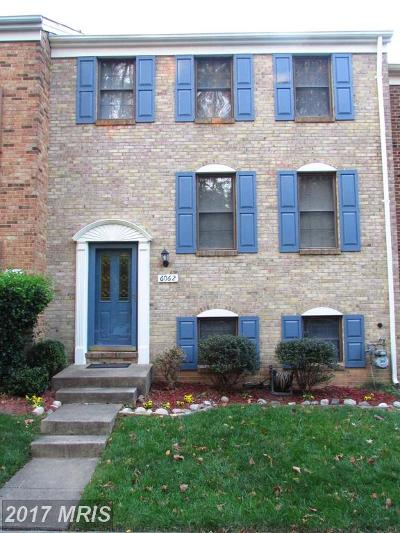 Burke Townhouse For Sale: 6062 Clerkenwell Court