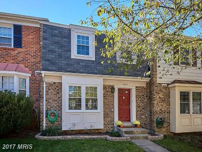 Fairfax Townhouse For Sale: 4869 Nash Drive
