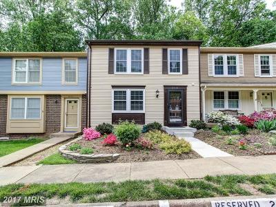 Reston Townhouse For Sale: 2308 Middle Creek Lane