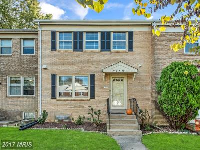 Fairfax Townhouse For Sale: 9115 Vosger Court
