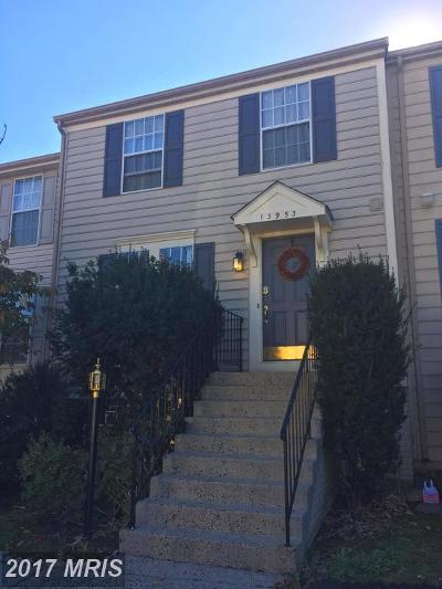 Centreville Townhouse For Sale: 13953 Winding Ridge Lane
