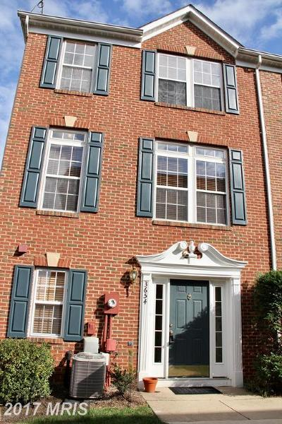Falls Church Townhouse For Sale: 3654 Madison Watch Way