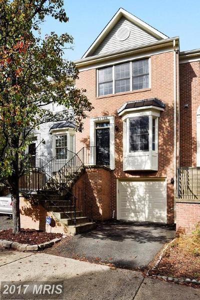 Centreville Townhouse For Sale: 14706 Bonnet Terrace