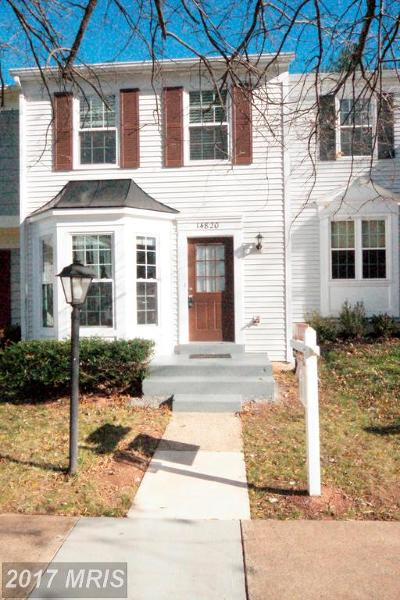 Centreville Townhouse For Sale: 14820 Lynhodge Court