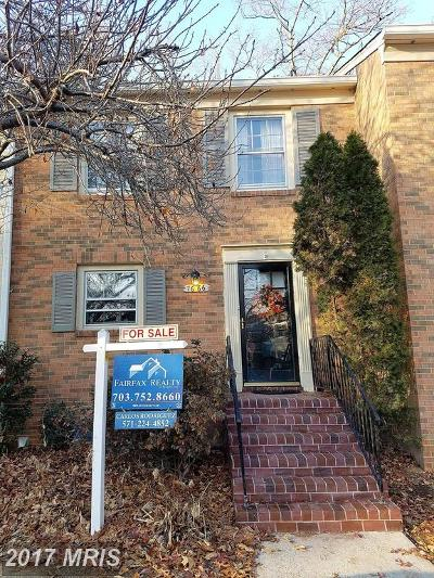 Springfield Townhouse For Sale: 7666 Tiverton Drive