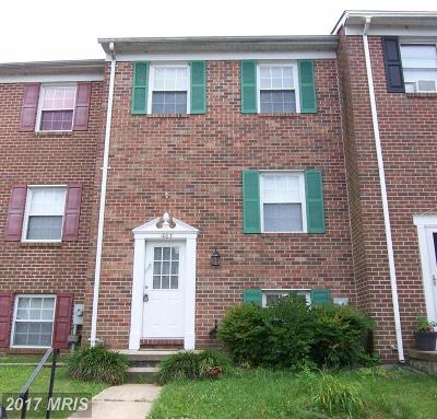 Edgewood MD Townhouse For Sale: $152,500