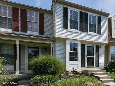 Belcamp Townhouse For Sale: 1427 Tarragon Court