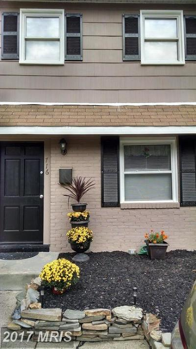 Edgewood MD Townhouse For Sale: $140,000