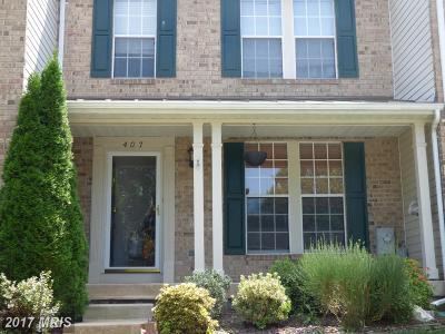 Abingdon MD Townhouse For Sale: $219,900