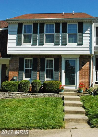 Bel Air Townhouse For Sale: 1733 Chesterfield Square