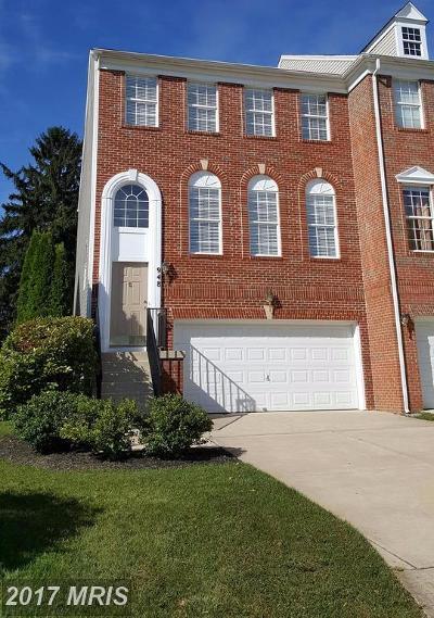 Bel Air Townhouse For Sale: 948 Creek Park Road