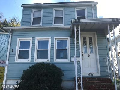Havre De Grace Single Family Home For Sale: 610 Erie Street