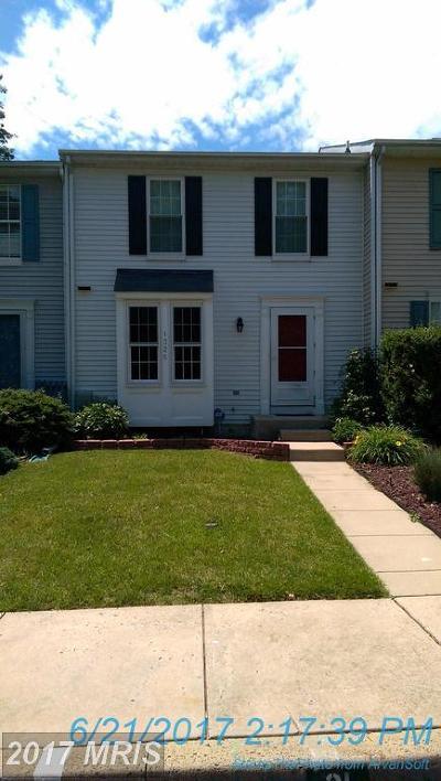 Belcamp Townhouse For Sale: 1325 Germander Drive