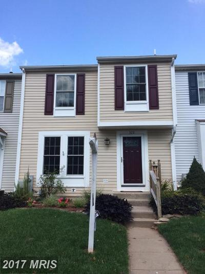 Abingdon Townhouse For Sale: 322 Delmar Court