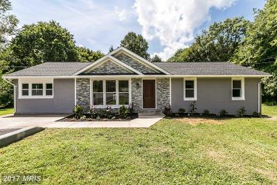 Woodbine Single Family Home For Sale: 16221 Frederick Road