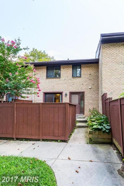 Columbia Townhouse For Sale: 9220 Bellfall Court