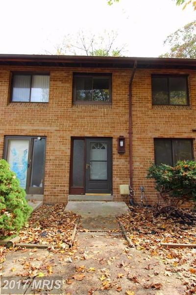 Columbia Townhouse For Sale: 8907 Footed Ridge