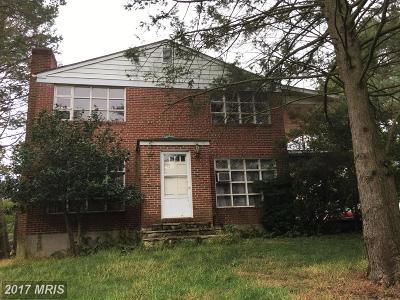 Ellicott City Single Family Home For Sale: 8109 Valley Lane