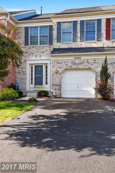 Ellicott City Townhouse For Sale: 8503 Timber Valley Court