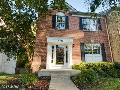 Ellicott City Townhouse For Sale: 8520 Timber Hill Court