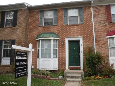 Elkridge Townhouse For Sale: 6296 Ducketts Lane
