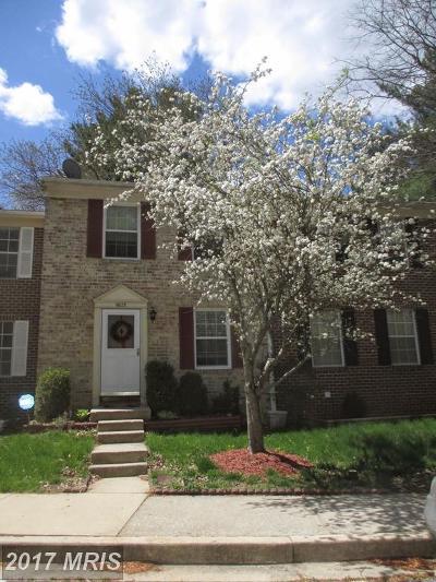 Columbia Townhouse For Sale: 9075 Lambskin Lane