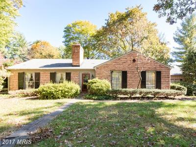 Ellicott City Single Family Home For Sale: 3809 Chatham Road