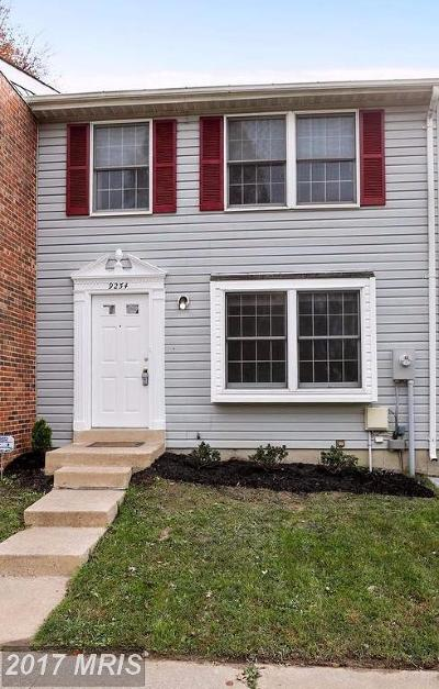 Laurel Townhouse For Sale: 9254 Redbridge Court