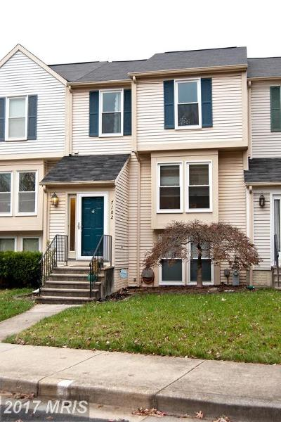 Columbia Townhouse For Sale: 7102 Eden Brook Drive