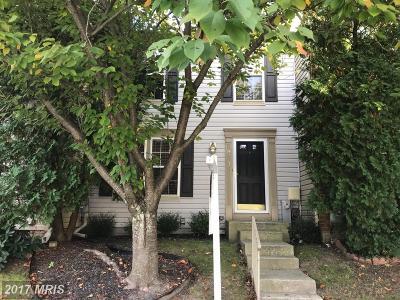 Ellicott City Townhouse For Sale: 8713 Rochelle Drive