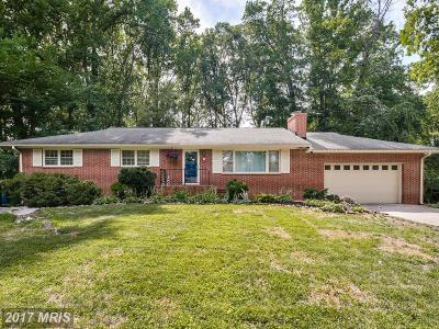 Ellicott City Single Family Home For Sale: 2890 Rosemar Drive