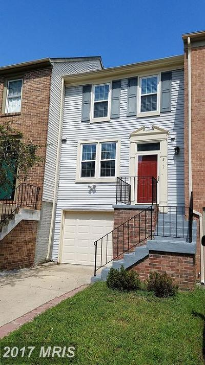 Jessup Townhouse For Sale: 8117 Aspenwood Way