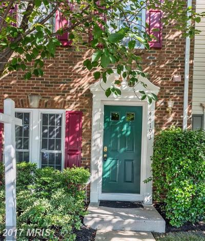 Loudoun Townhouse For Sale: 44193 Litchfield Terrace