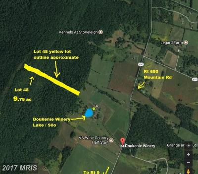 Purcellville Residential Lots & Land For Sale: Mountain Road