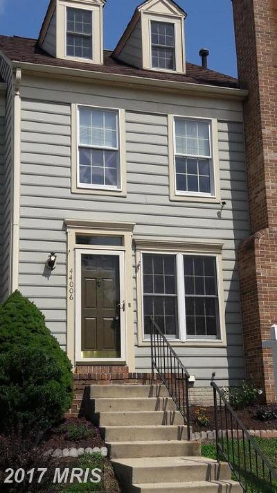 Ashburn Townhouse For Sale: 44006 Aberdeen Terrace