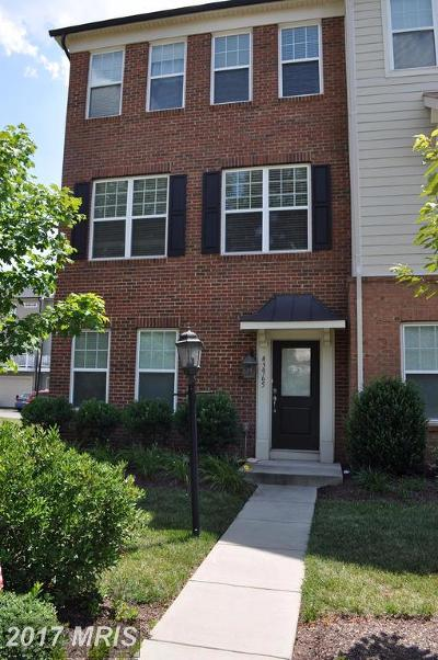 Chantilly Townhouse For Sale: 43965 Eastgate View Drive