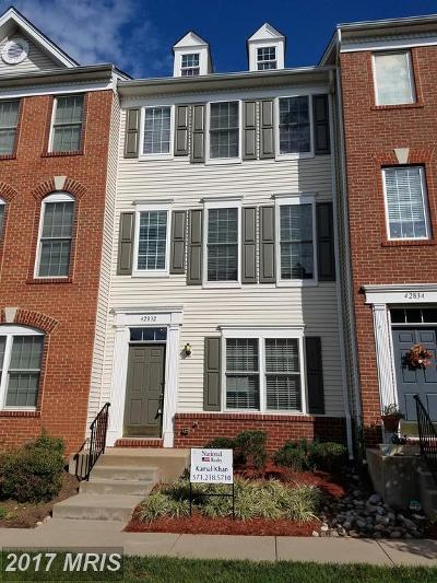 Chantilly Townhouse For Sale: 42832 McComas Terrace