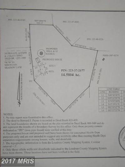 Leesburg Residential Lots & Land For Sale: Mountain Meadow Lane