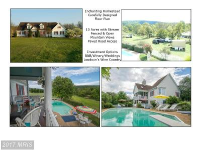 Purcellville Single Family Home For Sale: 15215 Cider Mill Road