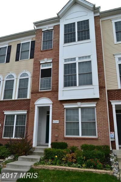Chantilly Townhouse For Sale: 42645 Homefront Terrace